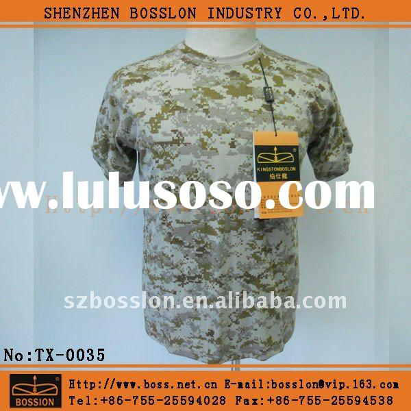 Army camouflage 100%cotton t-shirts
