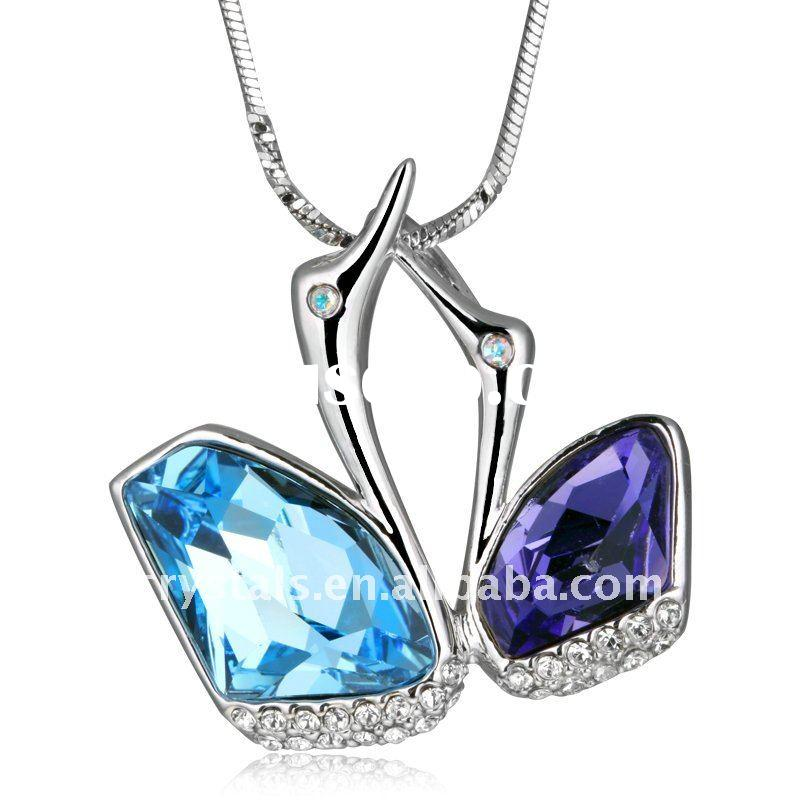 Austria crystal pendant necklace, fashion jewelry, swarovs necklace