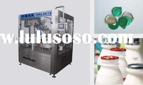 Automatic yogurt filling and sealing line