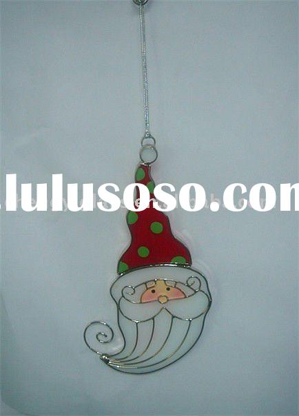 Beautiful Stained Glass Christmas Hanging Ornament