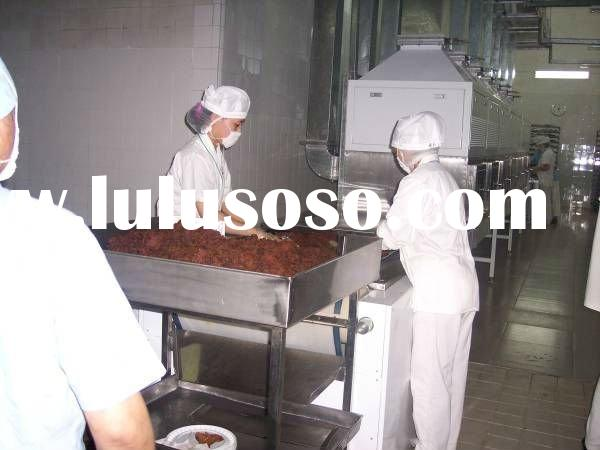 Beef jerky microwave dryer/sterilizer machinery--industrial/agricultural microwave equipment