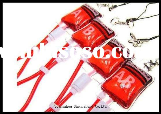 Blood Bag Mobile Chain Novelty Mobile Accessories (O,A ,B,AB style)