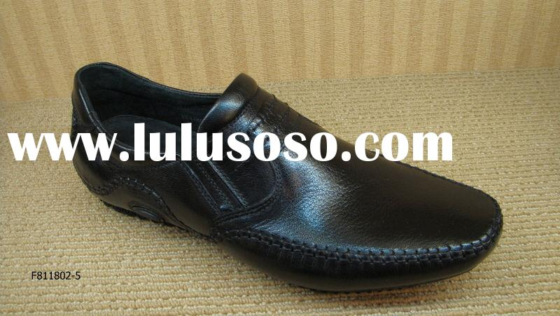 Brand Name of A-B-A 2010 Black Color Casual Genuine Leather Leathere Mens Shoes OEM Fashion