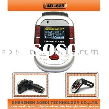Car mp3 player+ fm transmitter+Samsung flash memory+ remote control, car modulator, mp3 in car suppo