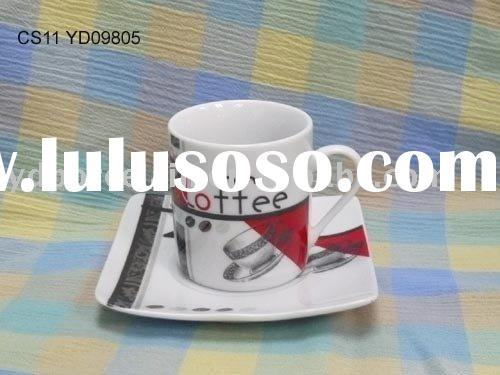 Ceramic / Porcelain espresso cup and saucer