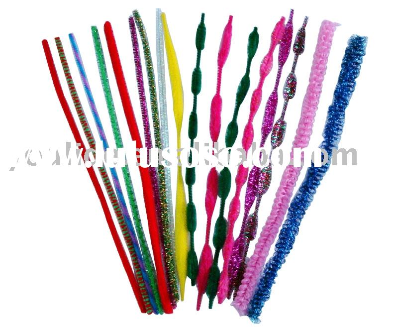 Chenille Stem, Pipe Cleaner, Striped Chenille Stick, Twist Chenille Stem, Bump Fluffy Stick