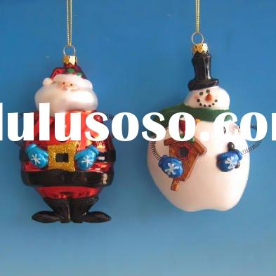 Christmas Tree Decoration Glass Hanging Ornament