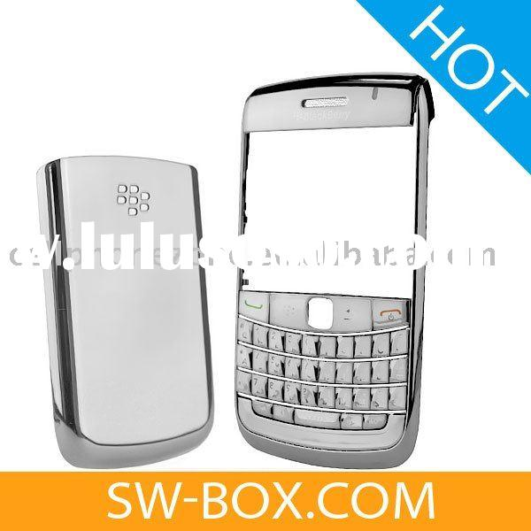 Chrome Housing Faceplate Cover With Keypad / Battery Cover For BlackBerry Bold 9700 9020 Onyx - Silv