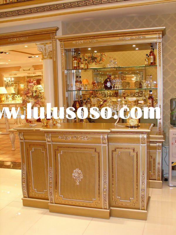 Classical wooden gold colour bar furniture set,hand carved, 24K gold plated,MOQ:1SET(B23591