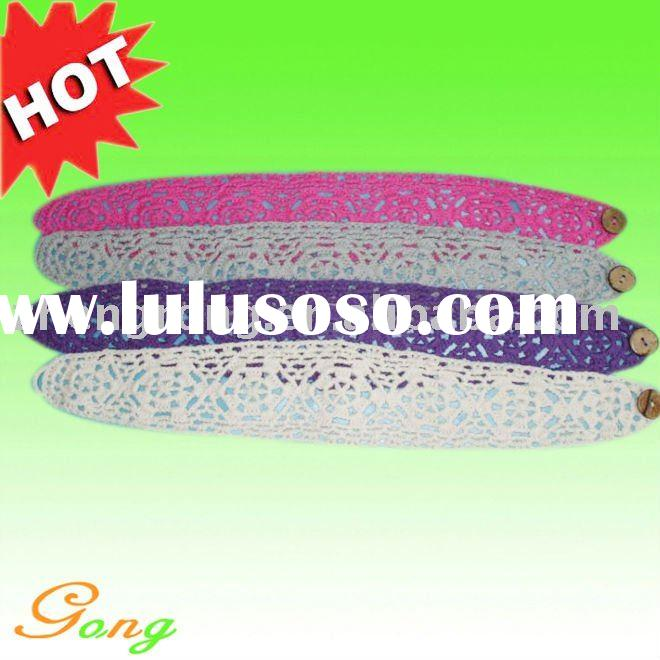 Cotton knitted headband pattern Elastic hair band