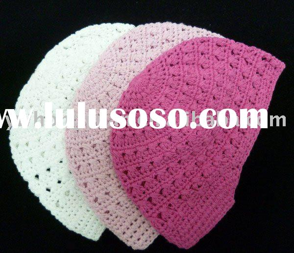 Crochet Baby Toddler Girls Flower Beanie hat cap