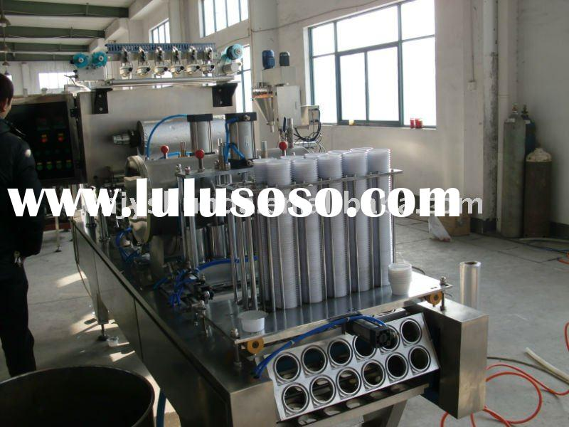 Cup filling & sealing machine plastic cup filling and sealing machine