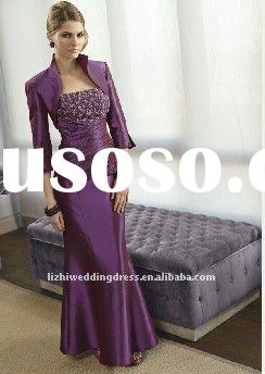 Custom-made 2011 hot sales modest floor length beaded mother of the bride dresses ML002