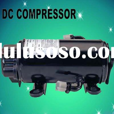DC compresor for DC powered air conditioner for heavy duty application