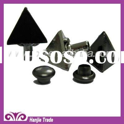 Decorative Gun Metal Triangle Rivet Studs for Leather Craft