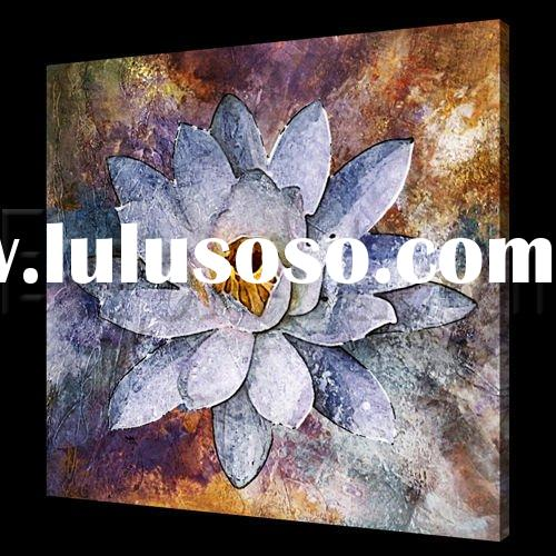 Decorative modern floral oil painting