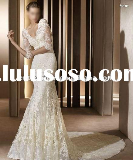 Designer Lace Wedding Dress 2012 Long Sleeve Lace Wedding Dress 111161