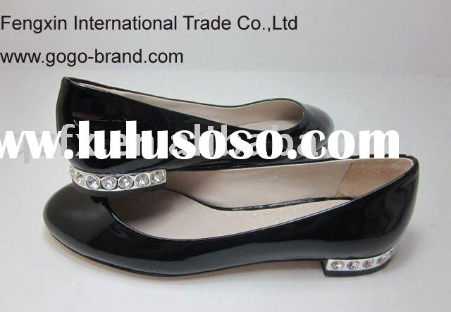 Designer women flat shoes , leather shoes( nude patent leather)