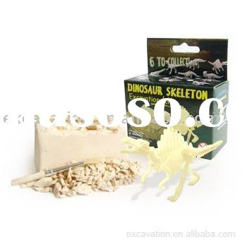 Dig & Discover small dinosaur skeleton, dinosaur excavation kit