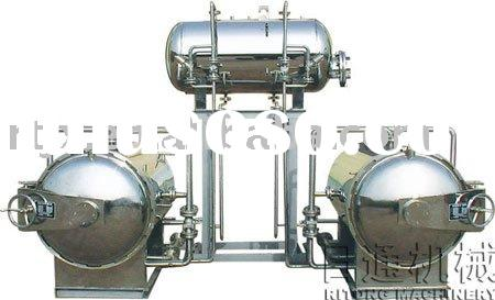 Dual electric and steam use double kettles parallel connection hot water spray type retort