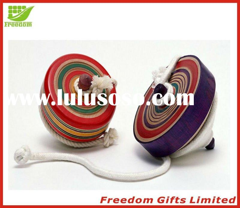 Eco-friendly Material Flashing In The Dark Wooden Peg-top,Spinning Top,Whipping Top