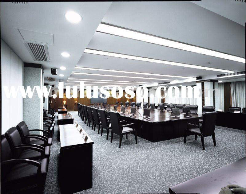Edison large size conference table with LCD lift mechanism