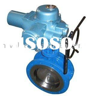 Electric Actuator Flanged Butterfly Valve