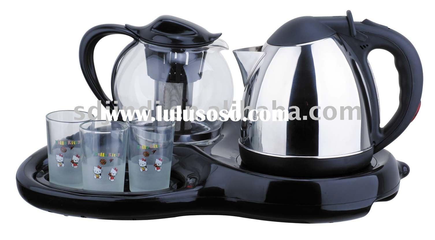 Electric Tea maker, 1.2L stainless steel kettle set with CB CE EMC GS approvals