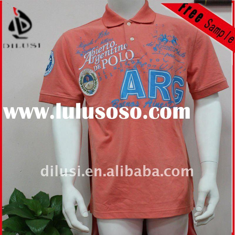 Embroidery and printed cotton t shirt stocklot and custom