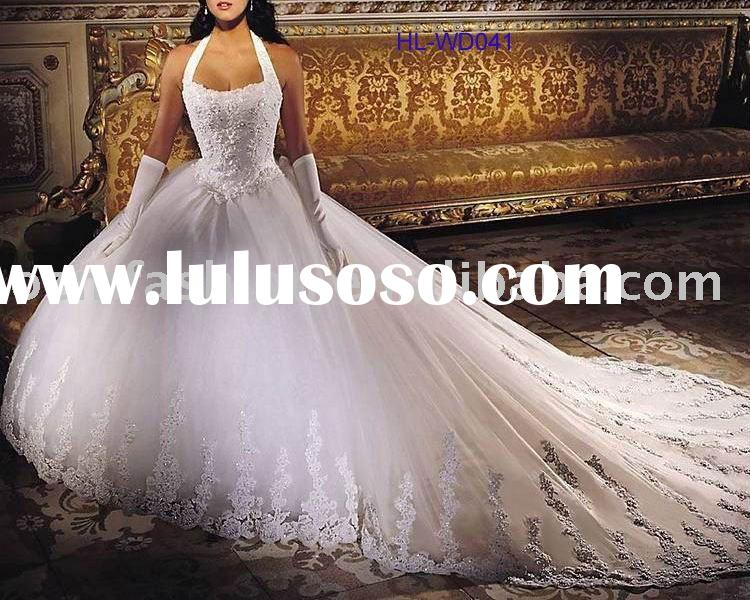 Long sleeves bridal wedding gown long sleeves bridal for Ball gown wedding dresses with long trains
