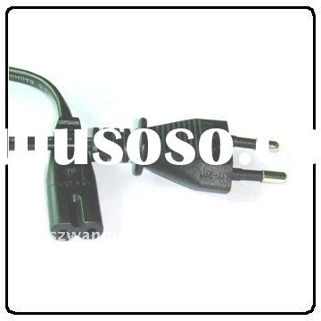 Europe VDE Approved AC Power Cord EU 2 Prong Plug