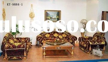 European 24K gold plated sofa,coffee table & sets
