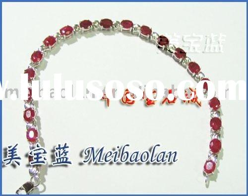 FASHION JEWELRY,18K GOLD BRACELET WITH NATURAL RUBY(2)