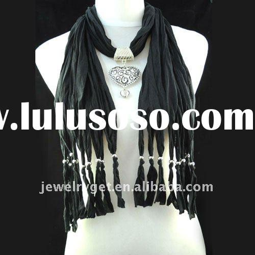 FREE SHIPPING, pendant jewelry scarf ,cable scarf knitting pattern,fashion long scarf ,nl-1495e NEW