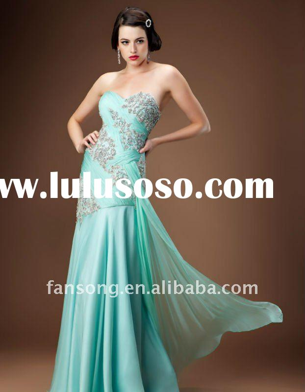 Fabulous beaded sweetheart floor-length prom evening gown