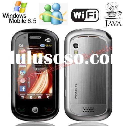 Fashion 3.0-inch Trackball Touch Screen Dual Camera Windows Mobile 6.5 WIFI JAVA Smart Phone A3100