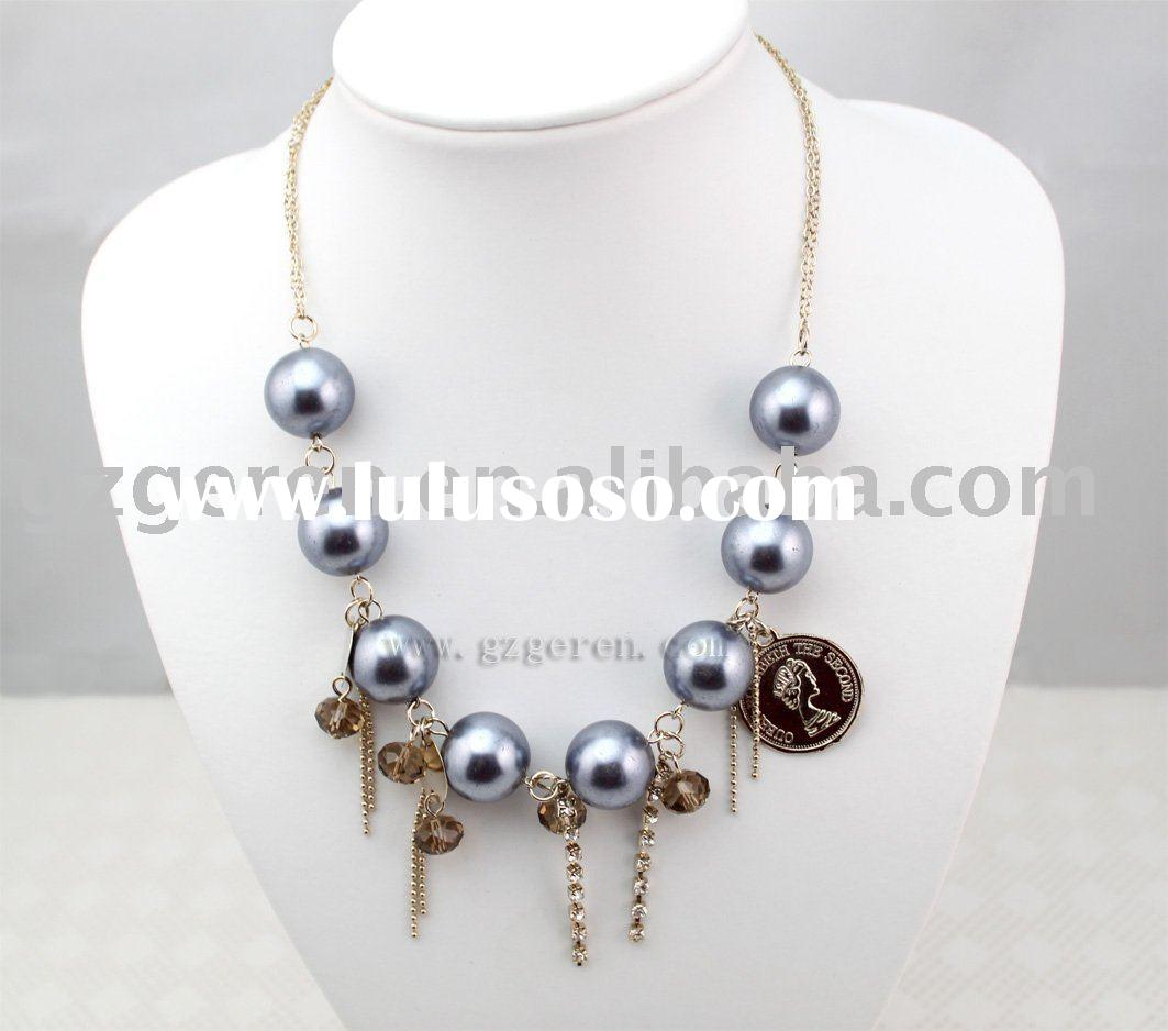 Fashion Accessories of Glass Pearl Necklace (010218Q)