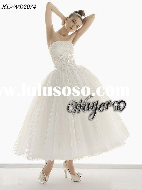 Fashion Ball Gown Short Wedding Dress HL-WD2074