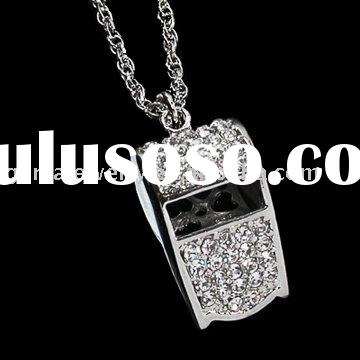 Fashion Jewelry Necklace With Bling Whistle Pendant
