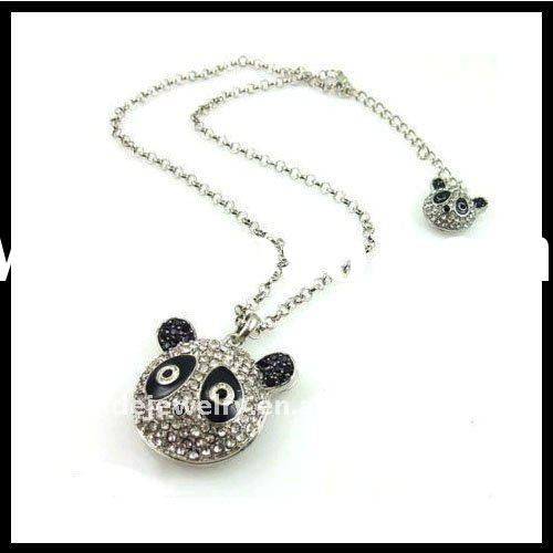 Fashion Jewelry pendant Necklace With Crystal Panda