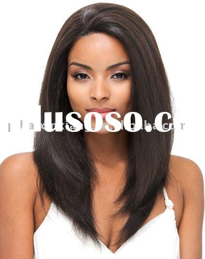 Fashion Ladies' 100% remy human hair silkstraight full lace wig