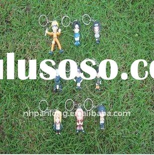 Fashion Naruto keyring make your own key chains keychains wholesale