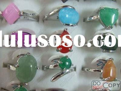 Fashion Rings Jewelry Natural Stone Silver Rings Gemstone Rings Jewellery