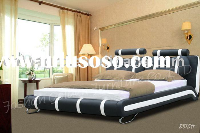 Fashion leather queen bed