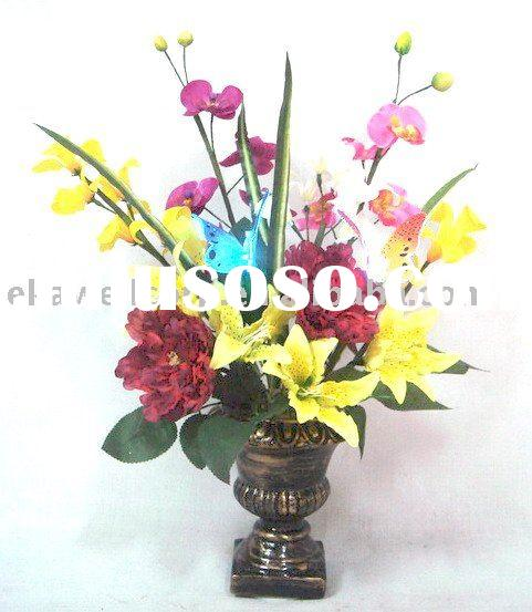 Fiber optic flower potted & Artificial flowers