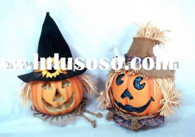 Fiber optic halloween pumpkin & halloween deocration