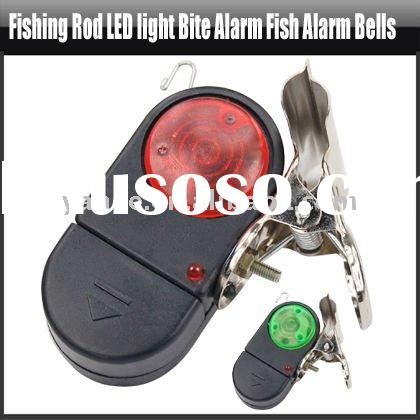 Fishing Rod LED Light Bite Alarm Fish Alarm Bells,YFO501A