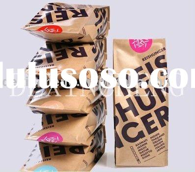 Foil lined paper food packaging bags