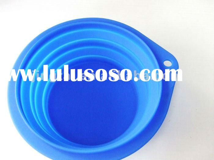 Foldable silicone pet bowl/Feeder