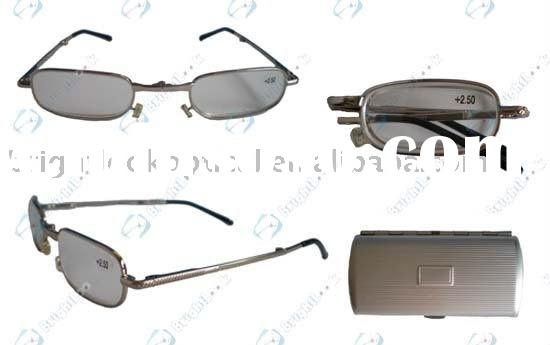 Folding reading glasses with case (BRM2456C)
